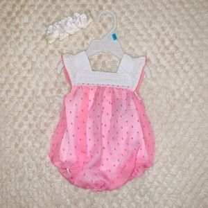 Baby girl outfit with headband
